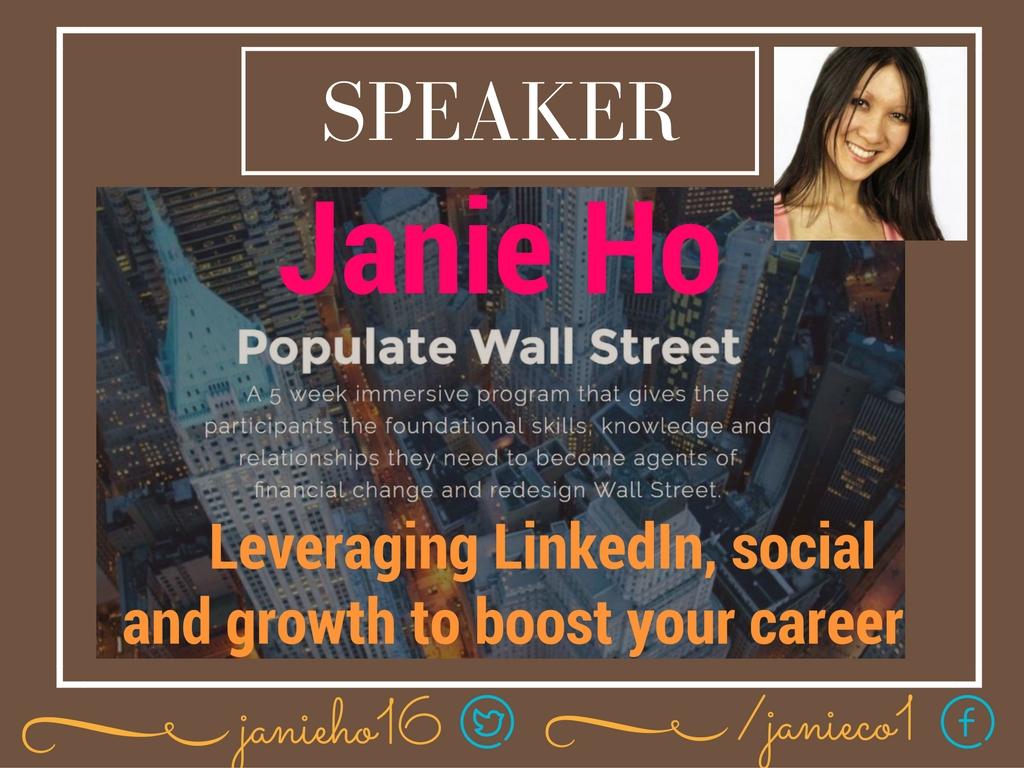 LinkedIn Expert | LinkedIn Speaker | Social Media Expert Speaker NYC | Janie Ho