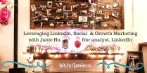 LinkedIn Profile Expert | Social Media Marketing Pro NYC | Janie Ho